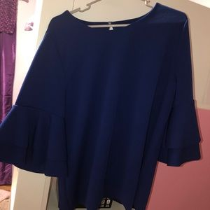 Lane Bryant Blue Big Sleeved Shirt